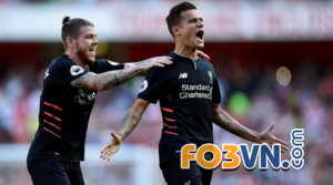 coutinho ghi ban cho liverpool